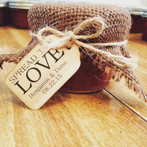 """Spread The Love Choose your quantity SMALL 2"""" Favor Tag"""