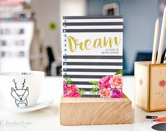 Goal Planner and Dream Journal | Personal Growth Workbook | Hostess Gift | Gratitude Journal | New Year Journal | Printable PDF