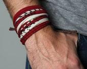 Bracelet, Gift for Him, Boyfriend Gift, Mens Gift, Wrap Bracelet, Gift For Boyfriend, Husband Gift, Gift for Husband, Mens Bracelet