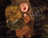 Baby Star Wars Ewok Hat Bear Newborn 0 3m Crochet Photo Prop Boy Girl Clothes Animal Custom Made Gender Neutral So Cute Super  SOFT