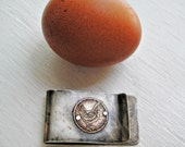 Chicken Etched & Embossed Forged Money Clip  - Acid Bath Series