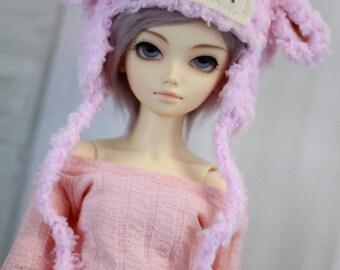 Fairy Kei Lamb Hat for Minifee BJD, 1/4Doll, Size 7 Sheep Hat