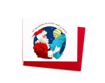 Christmas Cards, Meeting Santa Claus, Christmas Magic Box Set with Hand Typography
