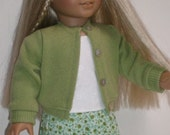 Pleated Skirt, Blouse and Sweater Molly or Emily 18 inch doll clothes OOAK