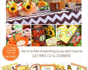 Pumpkin Patch Party Printable | Pumpkin Birthday | My Little Pumpkin | Fall Birthday | Pumpkin 1st Birthday | Amanda's Parties To Go