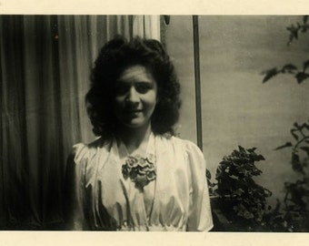 "Vintage Photo ""Don't Underestimate Her"" Snapshot Photo Old Antique Photo Black & White Photograph Found Photo Paper Ephemera Vernacular - 24"