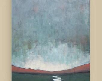 Twilight - Original Acrylic Painting - Landscape Painting - brushstroke - canvas 18x24