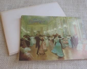 Vintage Invitations / Marcel Schurman Co. / Set of 5 / Vintage 1987 / An Elegant Soiree Invitation / Victorian Cards / Stationery / Party