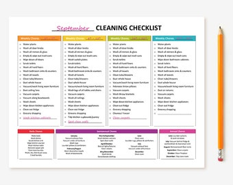 NEW! Printable Monthly Cleaning Checklist