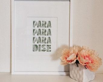 Paradise // Typography Print