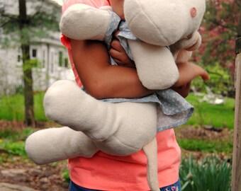 Stuffed Dog Sewing Pattern, Softie Pattern, Stuffed Animal Toy Pattern, Instant Download PDF