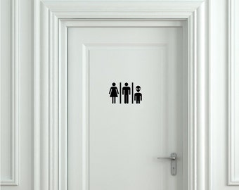 Funny Alien Sign Bathroom Sign Toilet Sign  Door Sticker Door Decal Toilet Decal