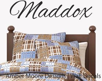 Boys Name Wall Decal - Children's Personalized Wall Decal, Monogram Name Decal, Nursery Wall Decal,  Boys Vinyl Name Decal, Vinyl Wall Decal