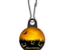Pumpkins Halloween Zipper Pull Charm for Sweatshirts, Jackets, Purse, Makeup Bag, Backpacks, Party Favors Stocking Stuffers, Button Pull