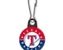 Texas Rangers Zipper Pull for Sweatshirts, Jackets, Purse, Makeup Bag, Backpacks, Party Favors, Stocking Stuffers, Button Zipper Pull