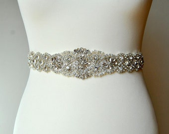"34"" Dress Sash Belt, Luxury Crystal Bridal Sash, Rhinestone Sash Bridal Bridesmaid Sash Belt Wedding rhinestone dress sash belt"