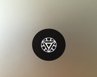 Arc reactor vinyl decal/sticker for Macbook Air & Pro