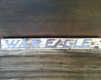 War Eagle Auburn Sign