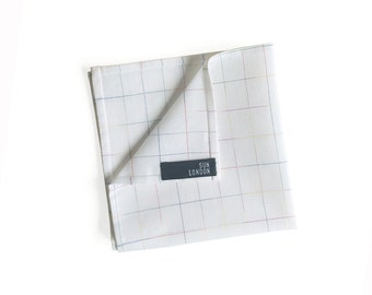 London Linen Pocket Square, Men's Hand-Rolled Handkerchief