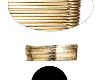 Wrapping Wire 12Kt gold-filled Half-Hard Round 26 gauge 5' GF HH RD 26GA #1214 Made in America