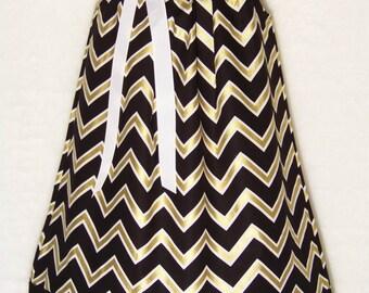 Saints Dress / Black & Gold / Fleur de lis / New Orleans / Who Dat / Geaux Saints/ Infant / Baby / Girl / Toddler / Custom Boutique Clothing