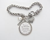 Step Mother Gift Step Mom Charm Bracelet Personalized Wedding Thank you for loving me as your own Wedding Quote Blended Family