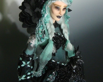 "OOAK ""KHALIDA"", a One of a Kind Art Doll sculpture by Victoria Mock"