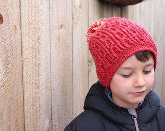 """Slouchy Cable Boys Beanie Crochet Patterns """"Blake Slouch"""" winter cables slouch beanie, children, crochet slouch pattern, PATTERN ONLY"""