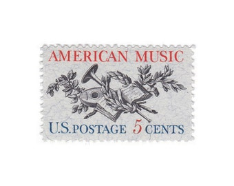 1964 5c American Music - 10 Unused Vintage Postage Stamp - Item No. 1252