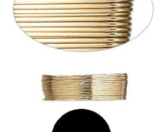 Quality Wrapping Wire 12Kt Gold-Filled Half-Hard Round 21GA GF HH RD 21 Gauge Five Feet 5' #1392 Made In America!