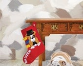 Monogrammed Dog Stocking, Personalized Dog Christmas Stocking