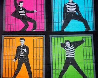 ELVIS PRESLEY Fabric 1950s Jailhouse Rock Music Movie Quilt Quilting Blocks