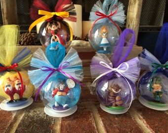 Alice in Wonderland Globe Ornament Set