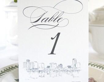 Orlando Skyline Table Numbers (1-10)
