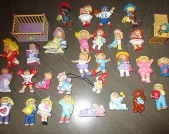 Vintage Large Lot of CABBAGE PATCH Kids PVC Figures - Plus Ceramic Baby (1984 edition) - Koosas - Accessories