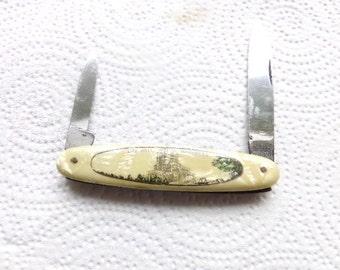 Vintage Antique 1935 1950 Wards Bone Knife Boy Scout Knife