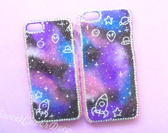 Handpainted Space phone case