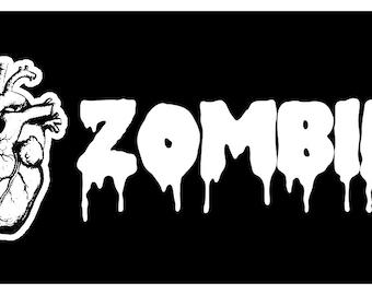 Sticker Decal I Heart Love Zombies Horror Walking Living Dead Geek Nerd Humor