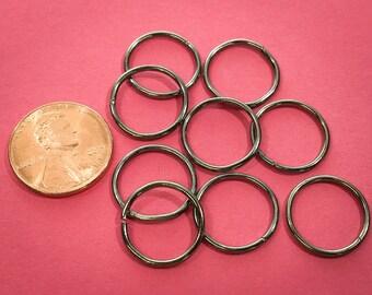 100 Pcs Gunmetal 15mm Jump Ring / Large Round Hoop Style / Open Link / 16 Gauge / Z718-100
