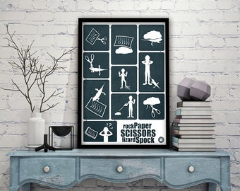 Rock Paper Scissors Lizard Spock Poster