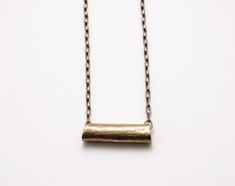 LITA Brass Cinnamon Stick Necklace