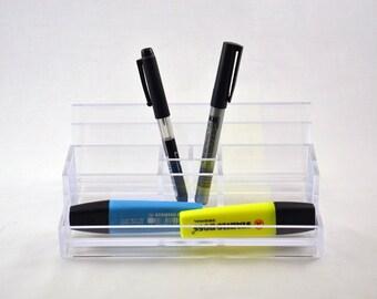 Vintage Desk Organizer / desk accessories / pencil and letters holder