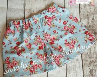 floral girls shorts