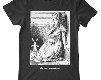 Alice In Wonderand Curiouser & Curiouser American Apparel T-Shirt