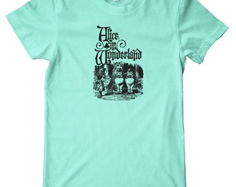 Alice In Wonderland Tweedledee & Tweedledum American Apparel T-Shirt
