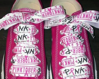 Custom breast cancer awareness shoes