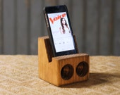 Cell Phone Stand and Speakers - Iphone Stand - Ipod Stand - Cell phone Stand - Cell Phone Speakers - MP3 Stand -Rustic Phone Stand