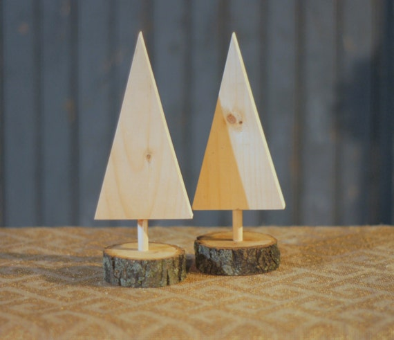DIY Christmas Tree - Kids Christmas DIY - Kids Painting Project - DIY Christmas Decor - Mini Wooden Trees - Unfinished Wood