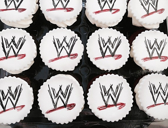 WWE Cupcake Toppers 1 Dozen by Itz My Party Cakery Catch My Party