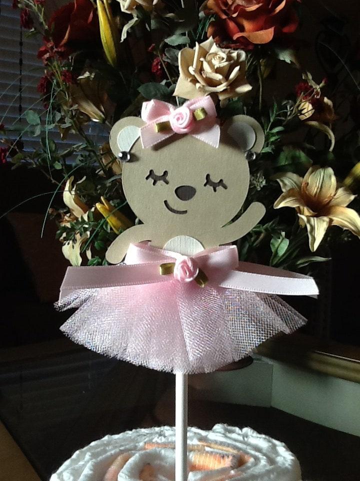 ballerina bear cake topper ballerina baby shower cake topper